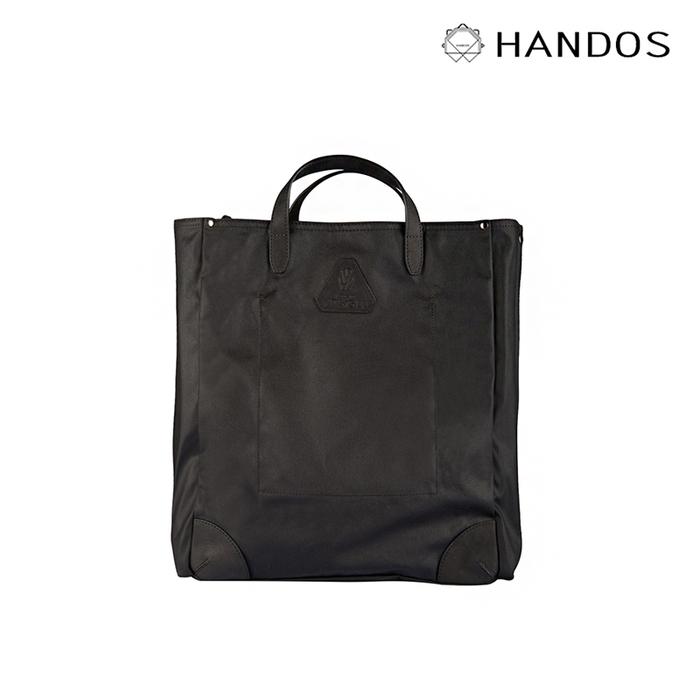(複製)HANDOS|HERRY L. 防水帆布真皮後背包 - 霧黑