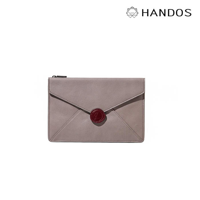 (複製)HANDOS Envelope 真皮信封手拿包 - 深咖