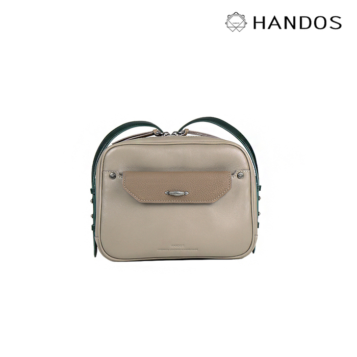 (複製)HANDOS|Secretary 真皮磁釦肩背包 - 藍灰
