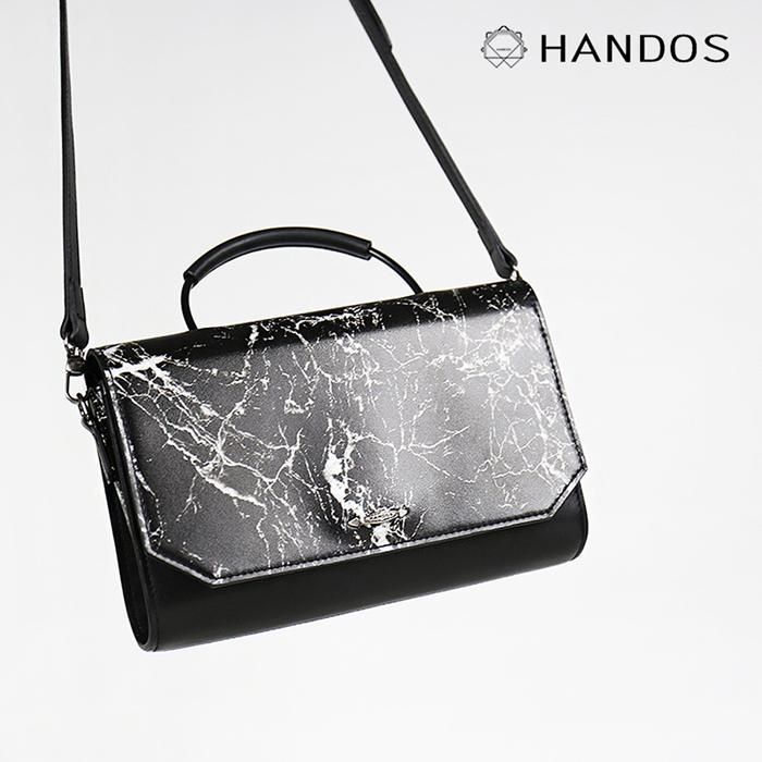 (複製)HANDOS Clara 大理石紋真皮肩背包