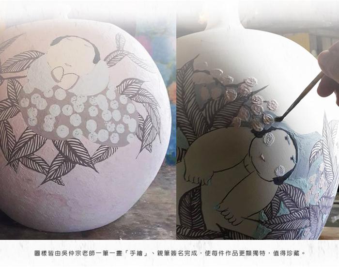 (複製)吳仲宗|胖太太系列 - 小杯-茶香酒詩 (雙件組)