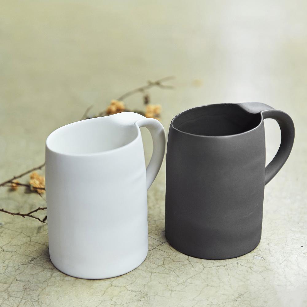 3,co│水波馬克杯禮盒組(2件式) - 白+黑