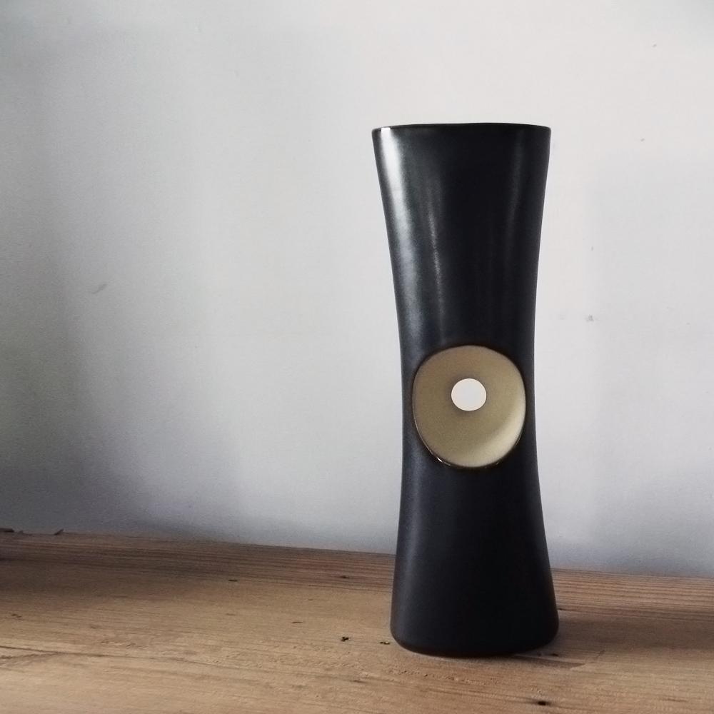 3,co│管狀花器 F - 日本黑(原色內層)