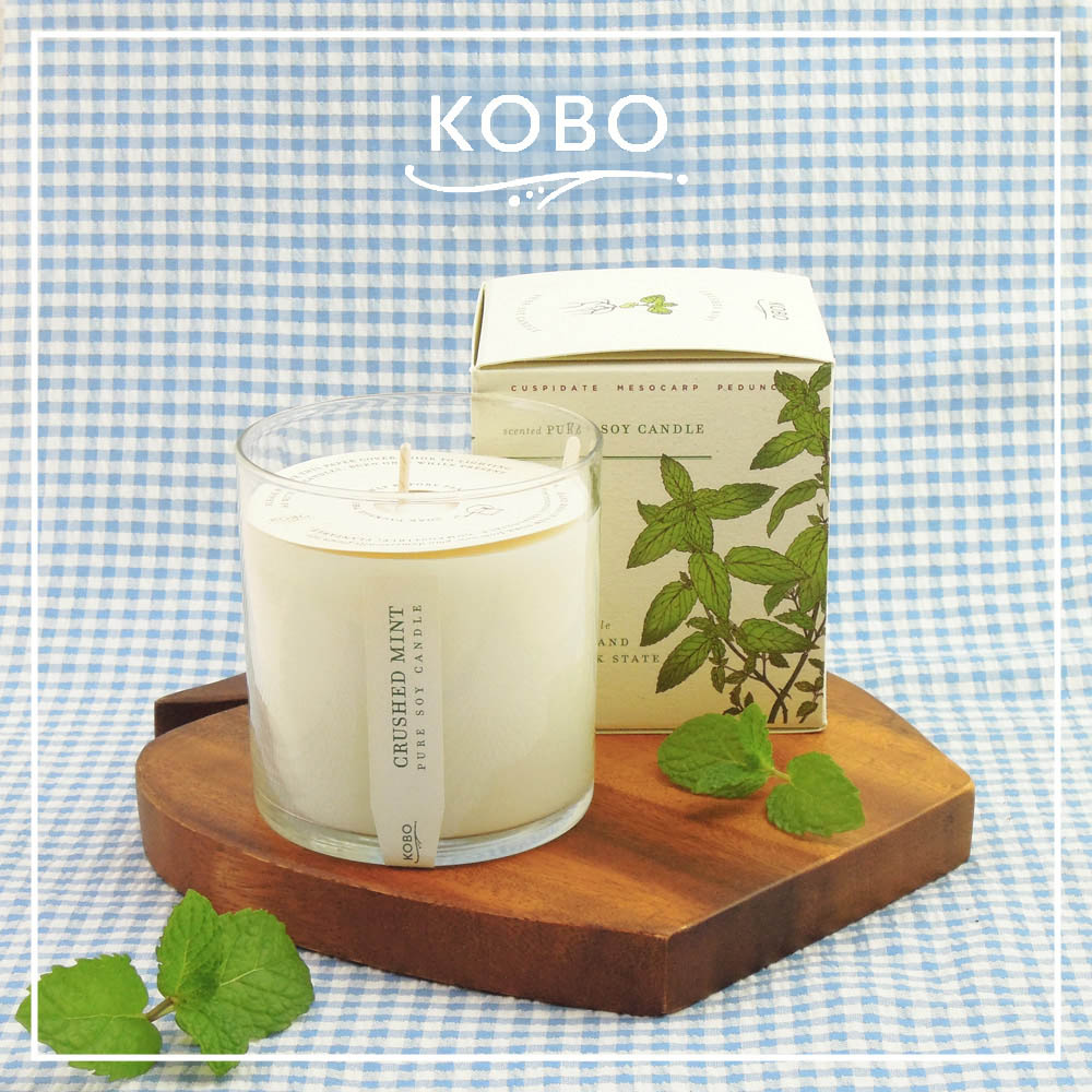 KOBO │美國大豆精油蠟燭 - 提神薄荷 (280g/可燃燒60hr)