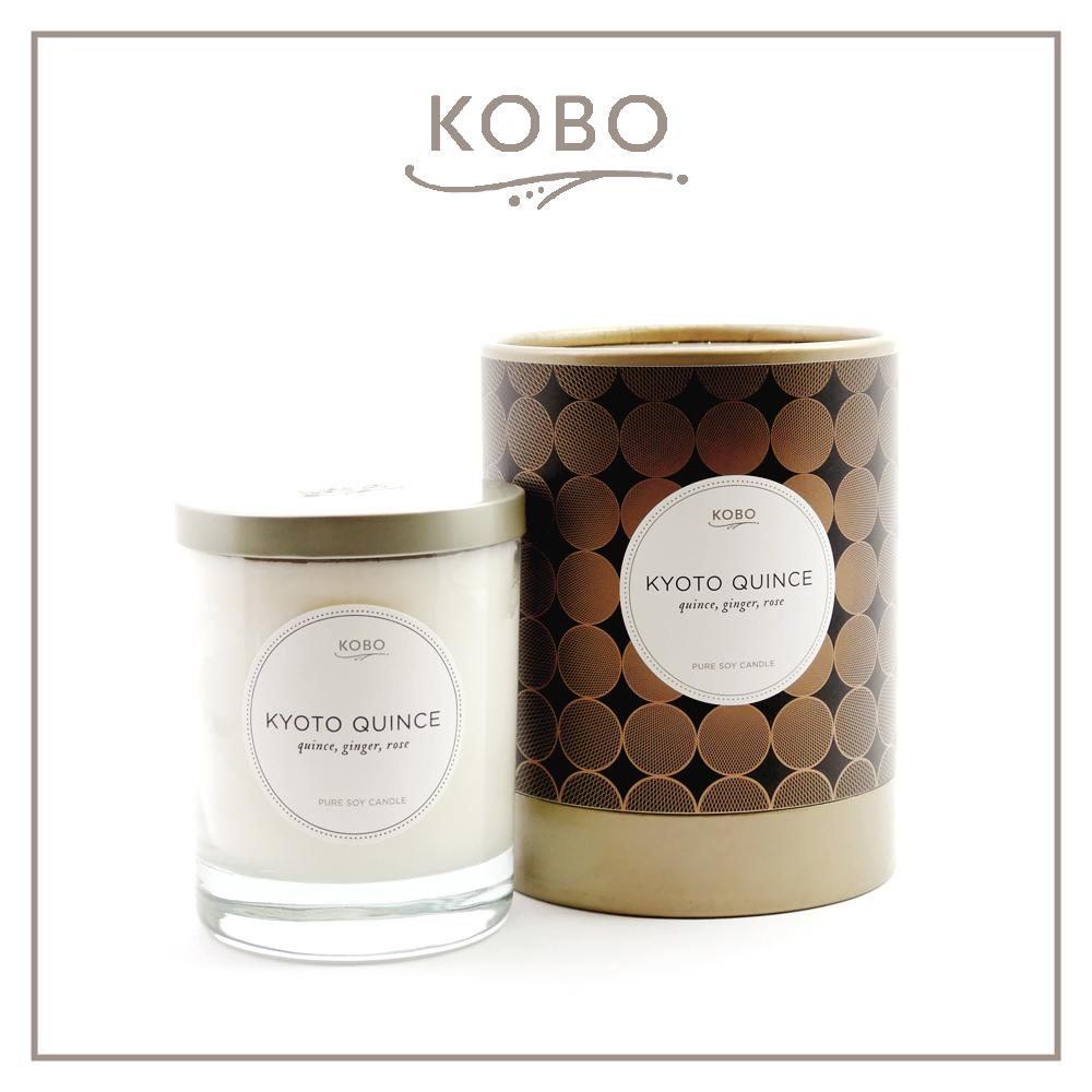 KOBO │美國大豆精油蠟燭 - 京都薔薇 (330g/可燃燒80hr)