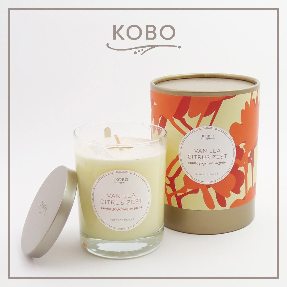 KOBO|美國大豆精油蠟燭 - 熱情香草 (330g/可燃燒80hr)