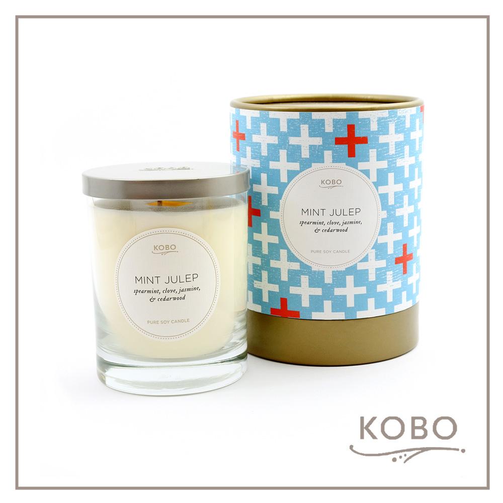 KOBO │ 美國大豆精油蠟燭 - 冰鎮薄荷酒 (330g/可燃燒80hr)