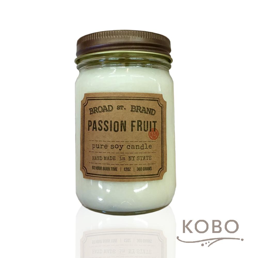 KOBO|美國大豆精油蠟燭 - 熱情果 (360g/可燃燒60hr)