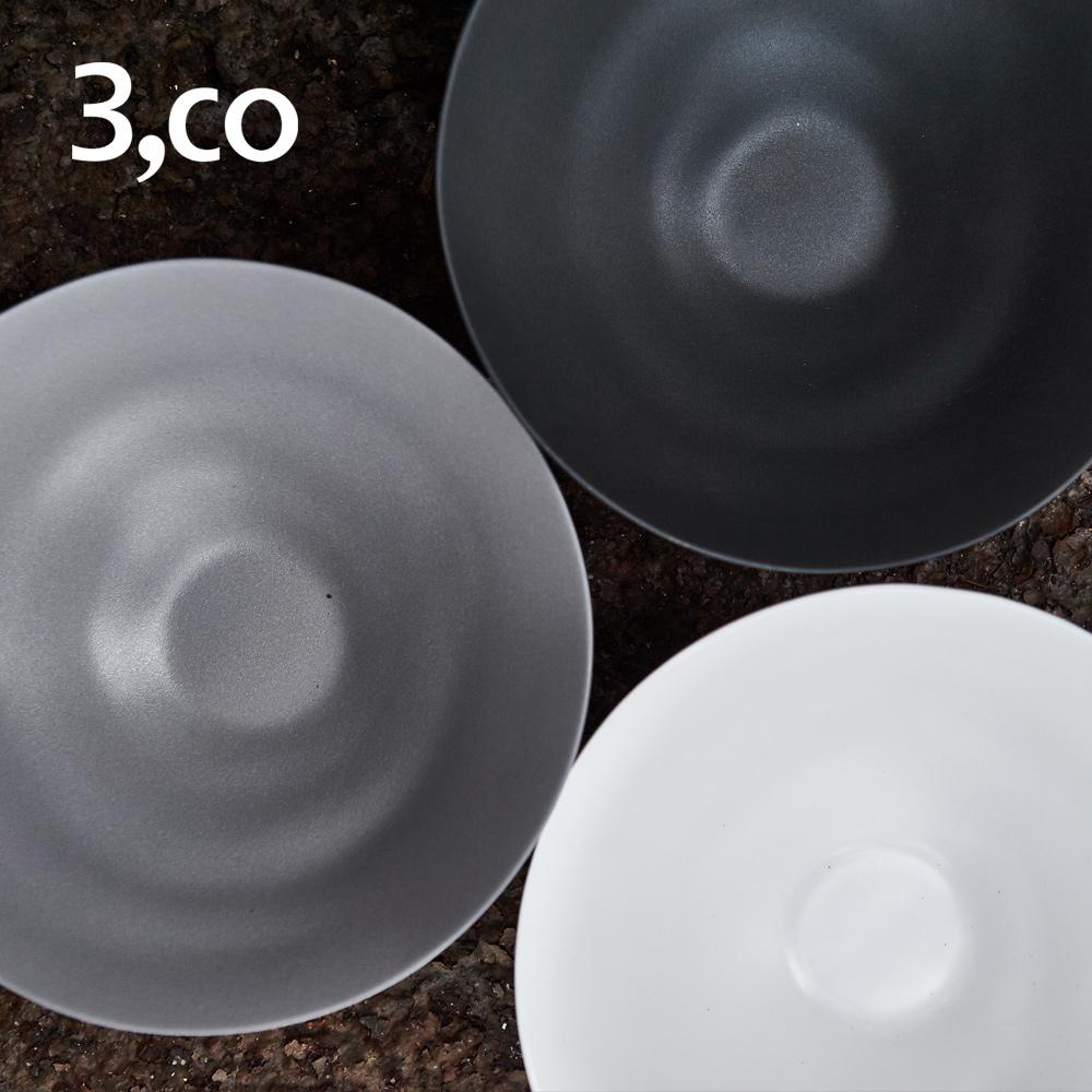 3,co│水波系列中碗(2號) - 白