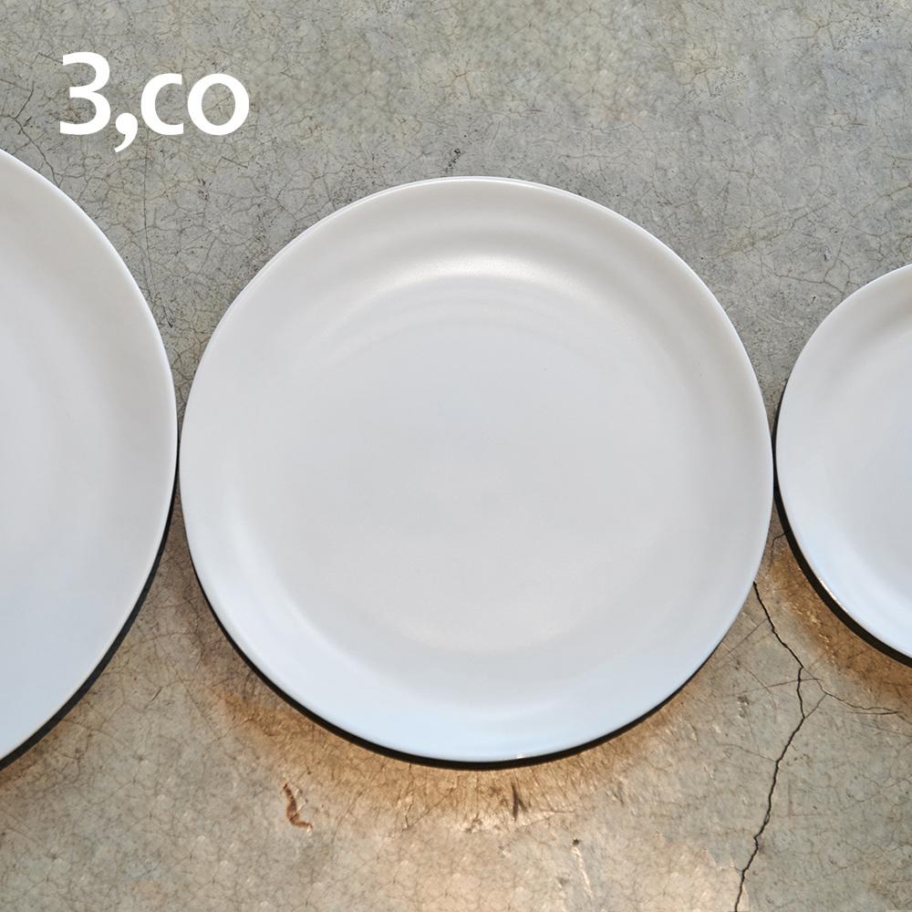 3,co│水波小菜盤(2件式) - 白+白