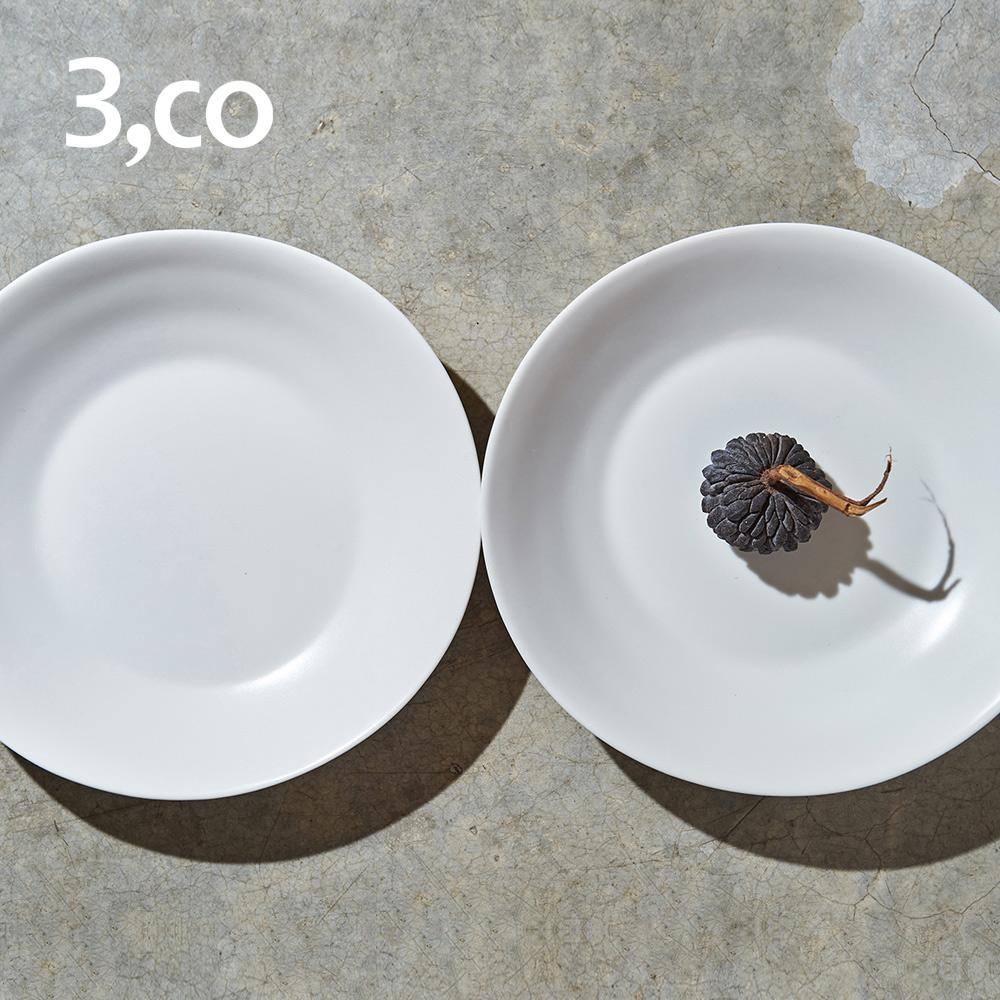 3,co│水波沙拉盤(2件式) - 白+白