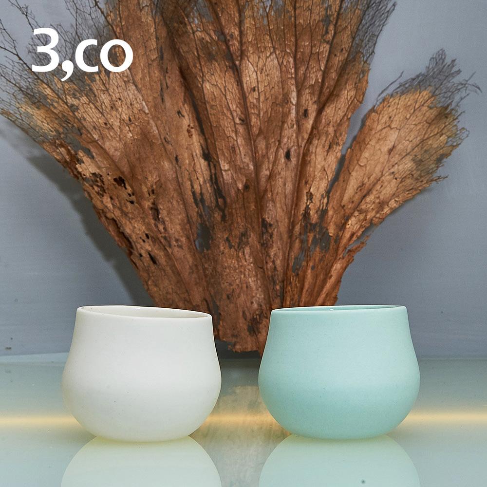 3,co│海洋西施小杯(雙色組) - 白+綠