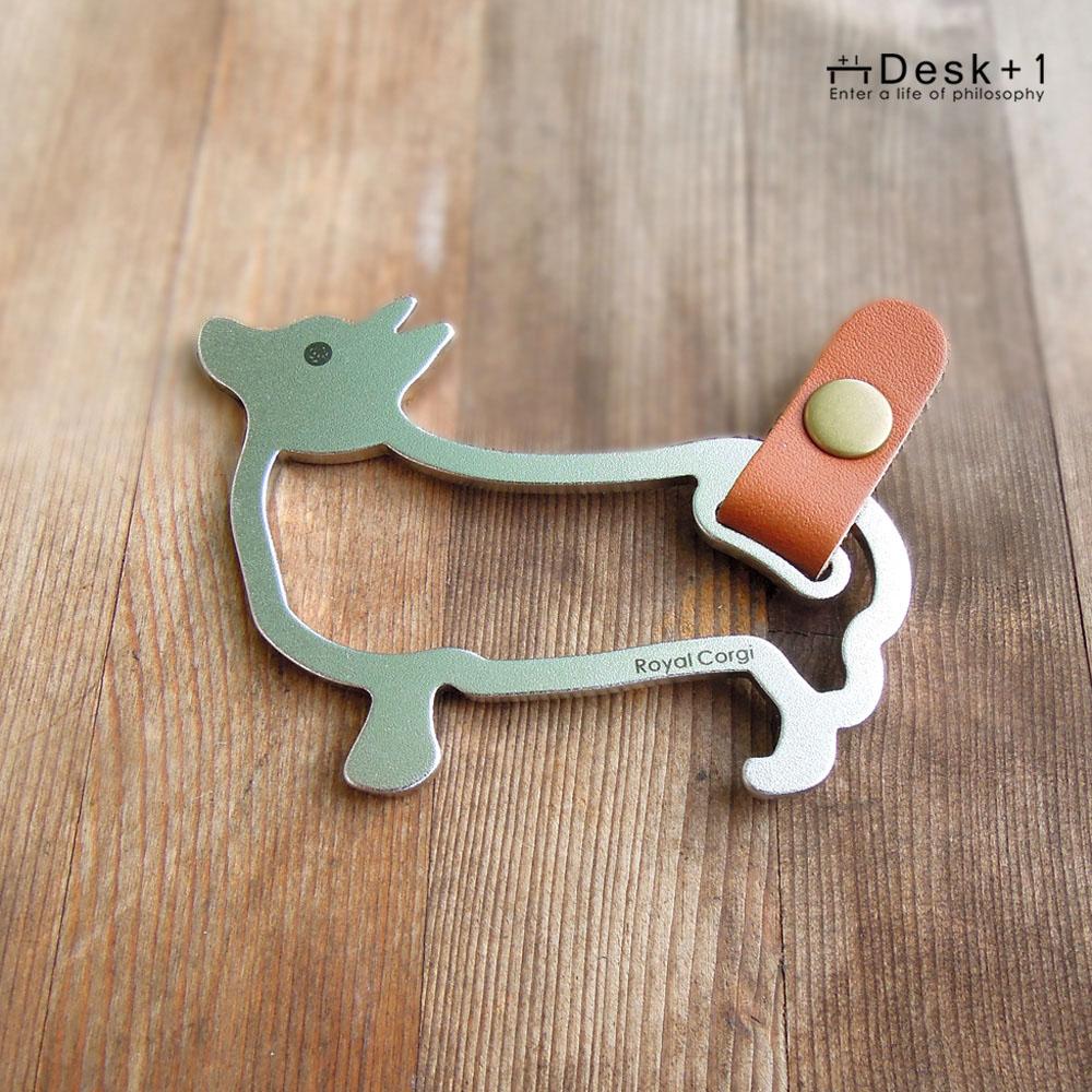 Desk+1 鑰匙圈吊飾(大) - 皇家柯基犬