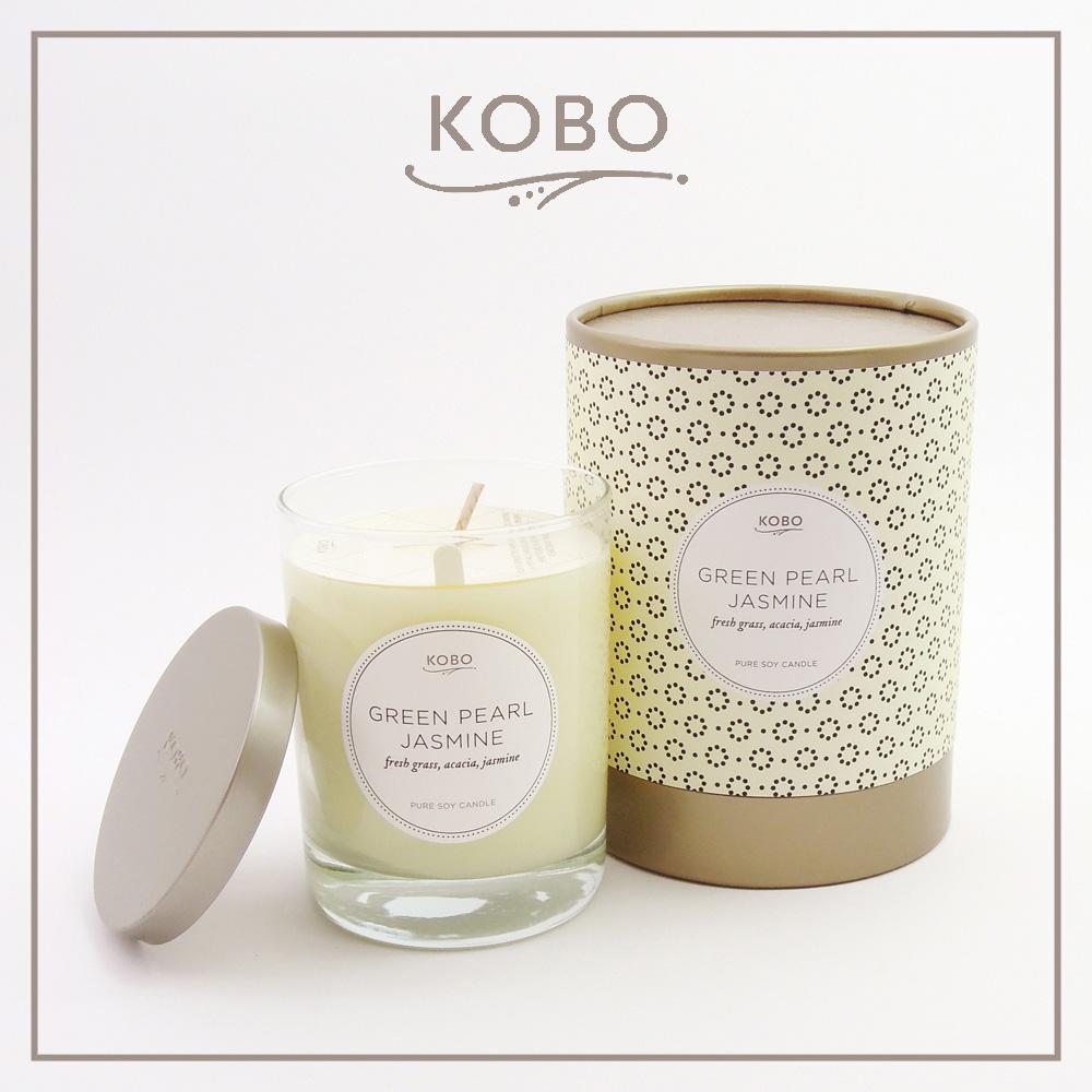 KOBO|美國大豆精油蠟燭 - 茉莉抺茶 (330g/可燃燒80hr)