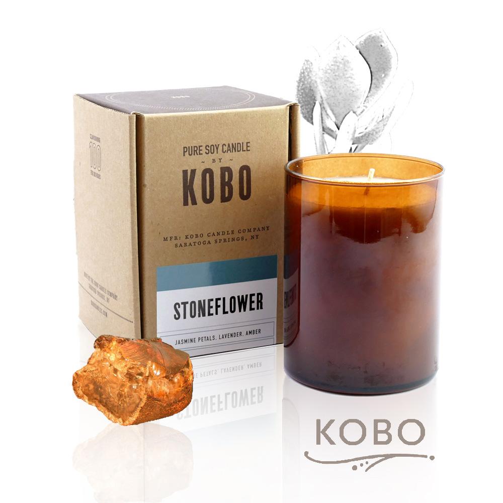 KOBO|美國大豆精油蠟燭 - 森巴生石花 (435g/可燃燒100hr)
