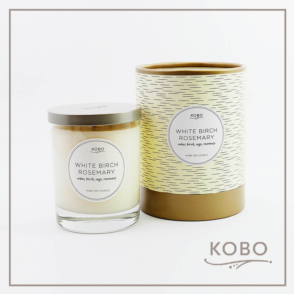 KOBO|美國大豆精油蠟燭 - 迷迭白樺 (330g/可燃燒80hr)