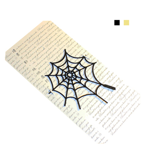 Desk+1 蜘蛛網書籤兩件組(黑+金)
