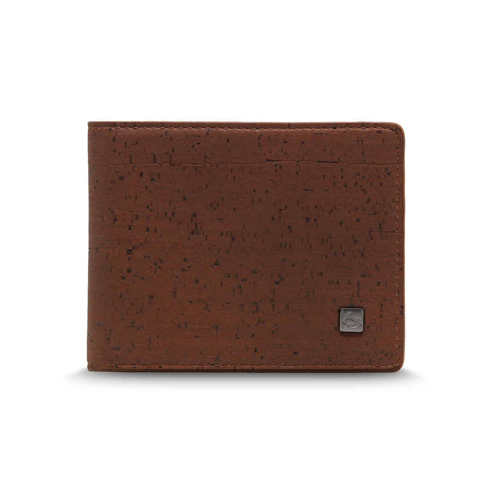 CORCO|經典軟木短夾 - 酷深棕