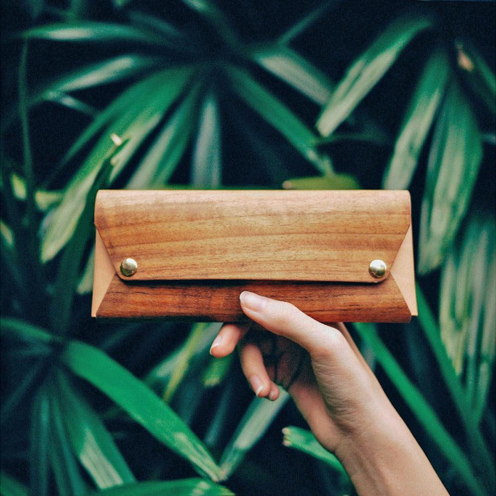 PARSEC|樹革柚木筆袋