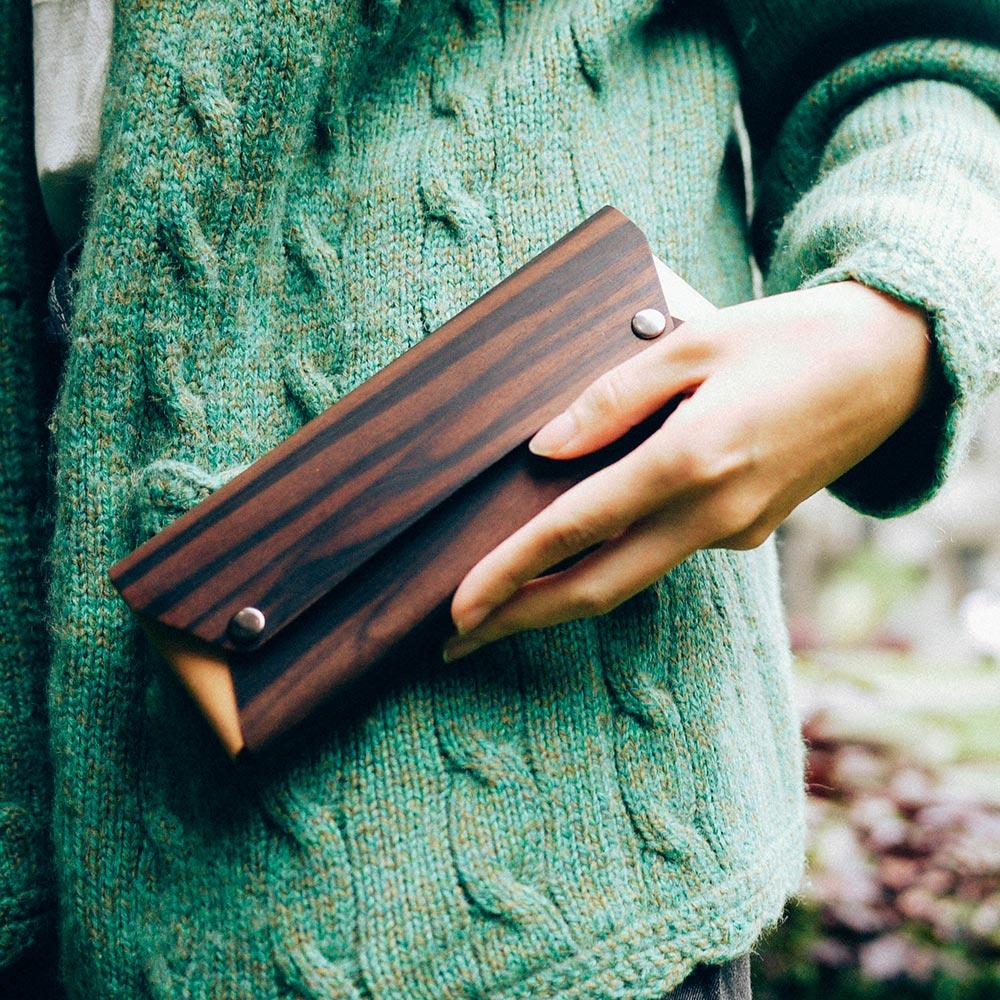 PARSEC|樹革黑檀筆袋
