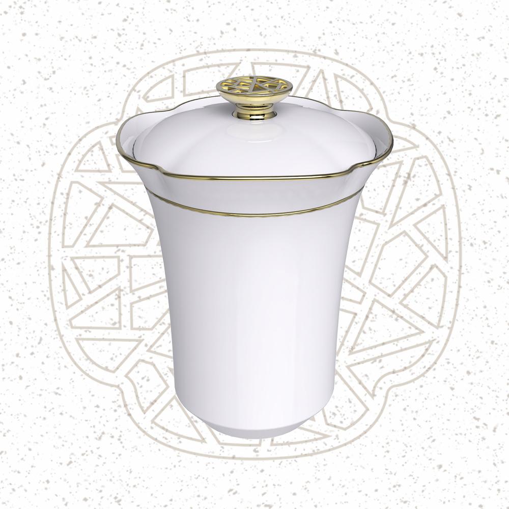 TALES 神話言│花窗舞影.馬克蓋杯-冰玉丁香