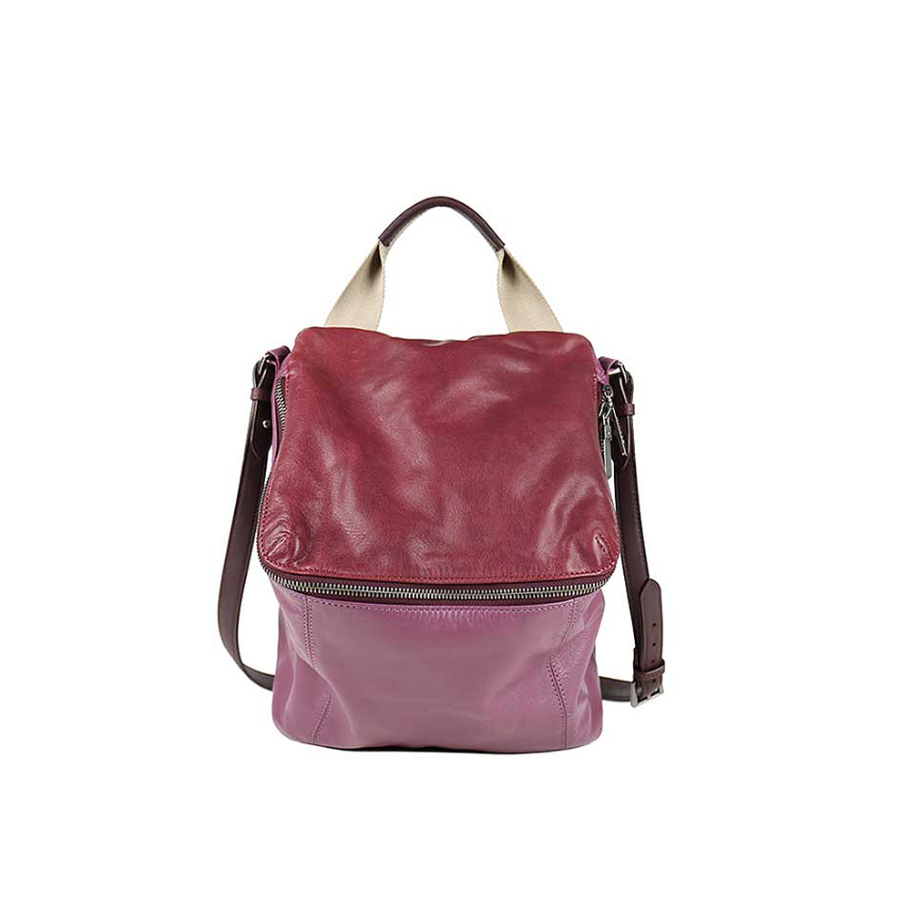 HANDOS|Pimm's 輕便羊皮休閒肩背包 - 紫紅