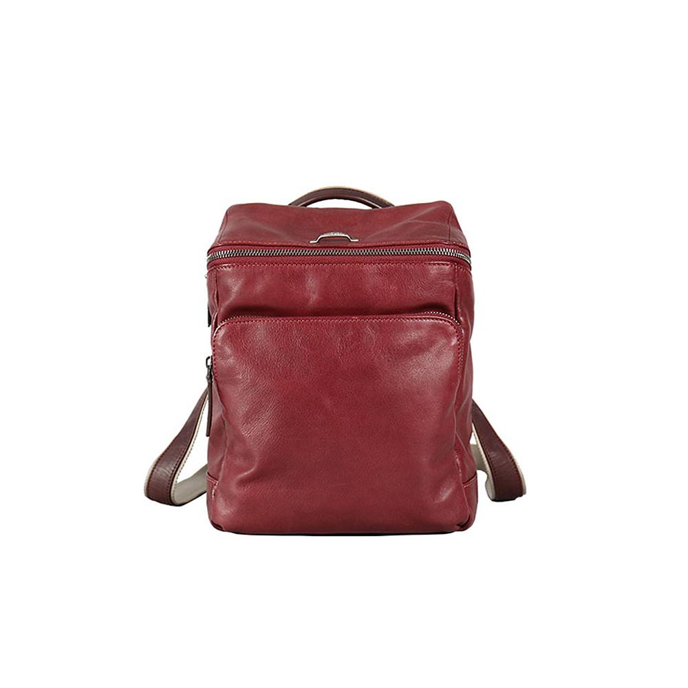 HANDOS|Cosmopolitan 輕巧羊皮時尚後背包 - 紫紅