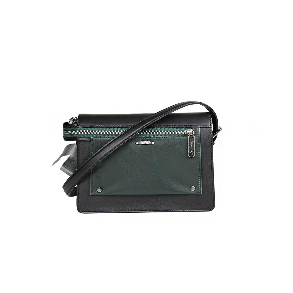 HANDOS|Pocket 蝴蝶結系列肩背包 - 黑 x 綠