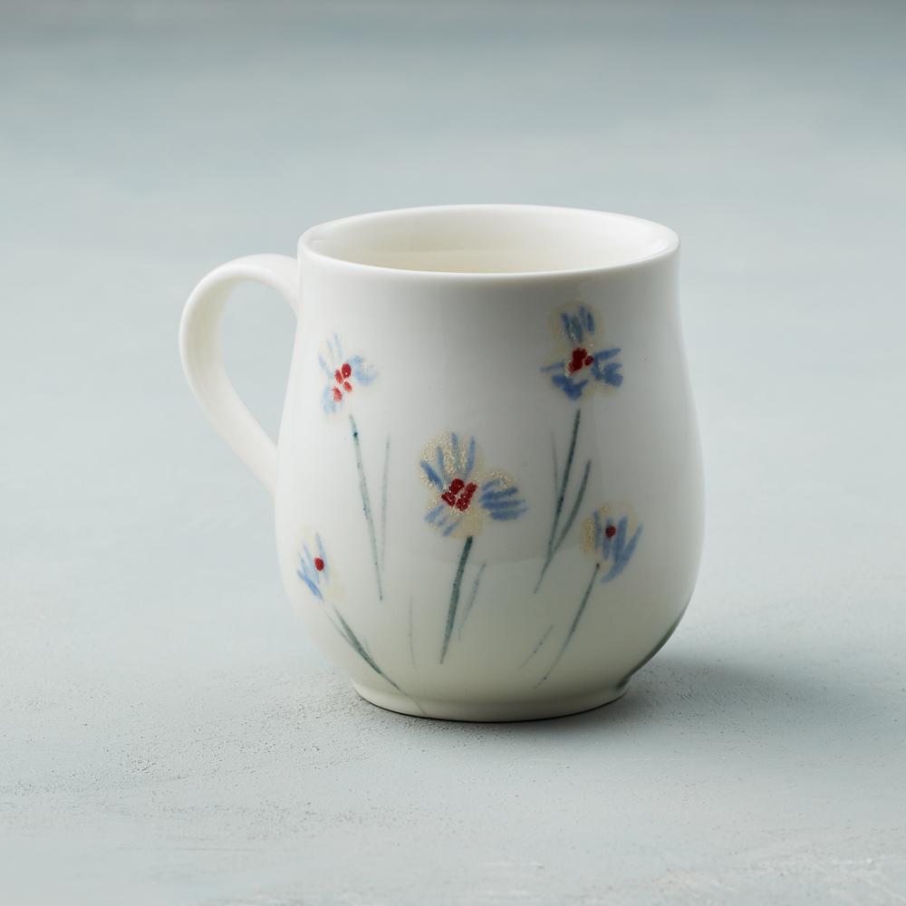 吳仲宗|胖太太系列 - 馬克杯 - 木蘭白 (薄紗藍衣)
