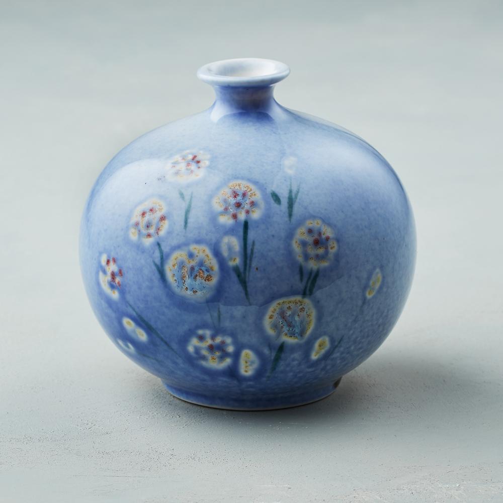 吳仲宗|胖太太系列 - 胖瓶 - 琉璃藍 (蒼綠衣)