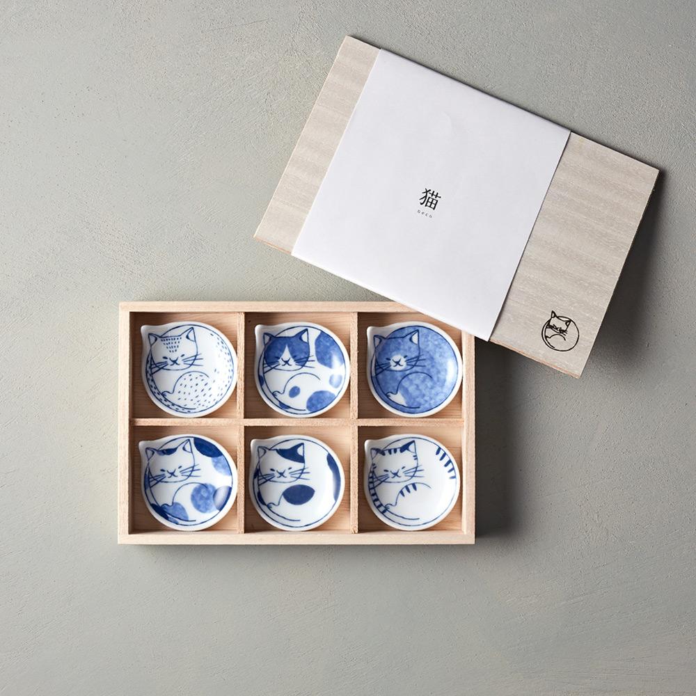 石丸波佐見燒|neco 貓 - 豆皿禮盒 (6件組)