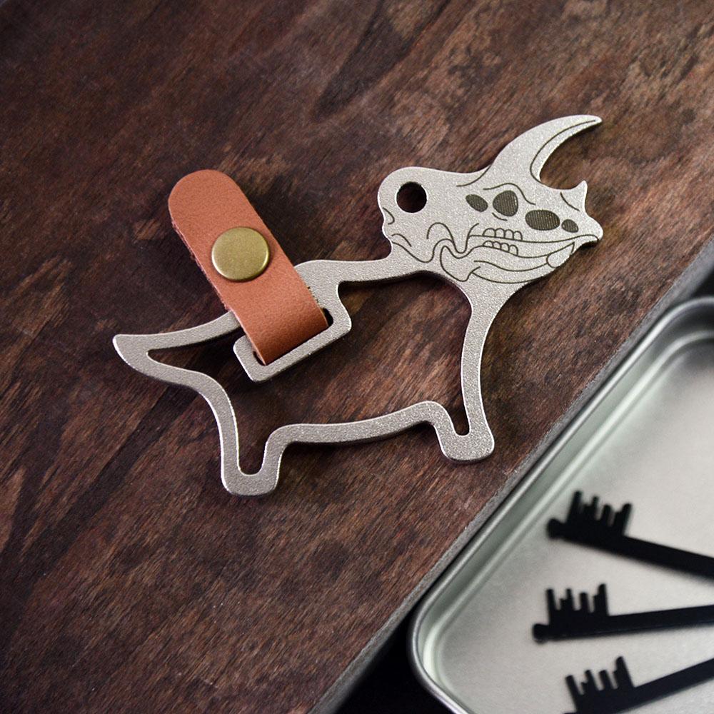 Desk+1|鑰匙圈吊飾(大) - 三角龍