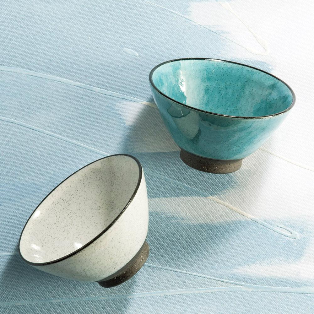 日本AWASAKA美濃燒|清風時雨茶碗組 (2件式)