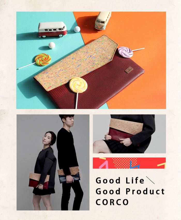 CORCO|軟木文件手拿包-繽紛紅