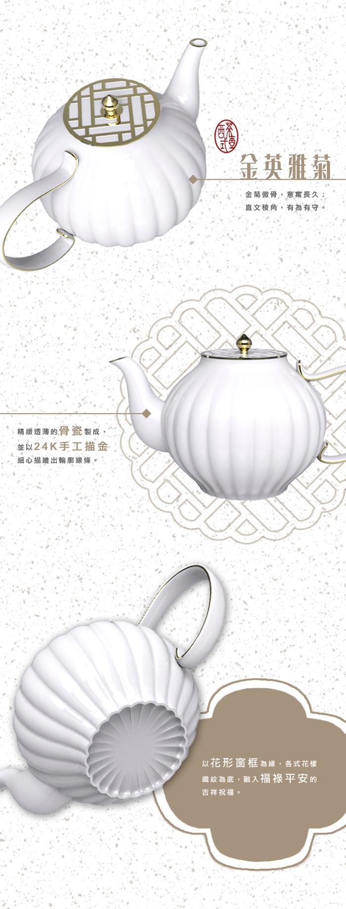 (複製)TALES 神話言│花窗舞影.西式茶壺-富貴菱花