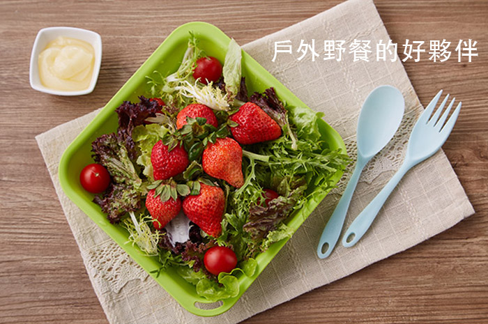 Truvii 櫻花粉抗菌餐具組( 附網袋 )