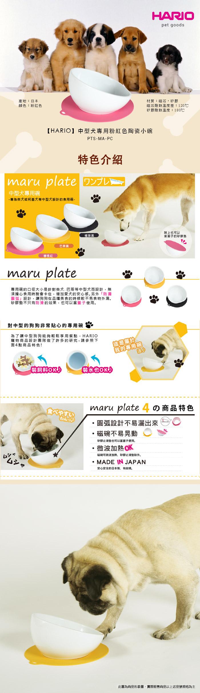 (複製)HARIO  小型犬專用粉藍磁碗  PTS-CB-BU