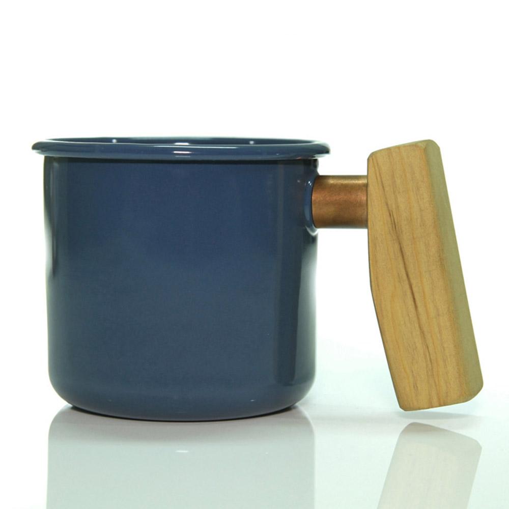 Truvii|波斯藍檜木柄琺瑯杯 400ml