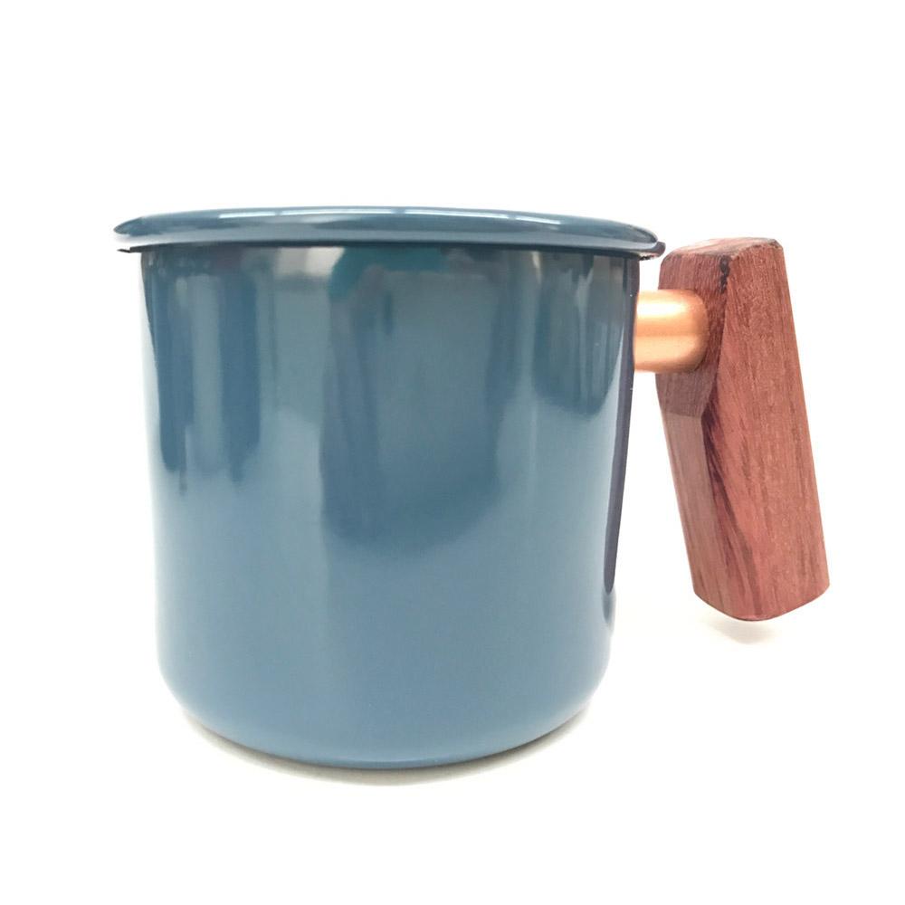 Truvii|波斯藍紫心木柄琺瑯杯 400ml