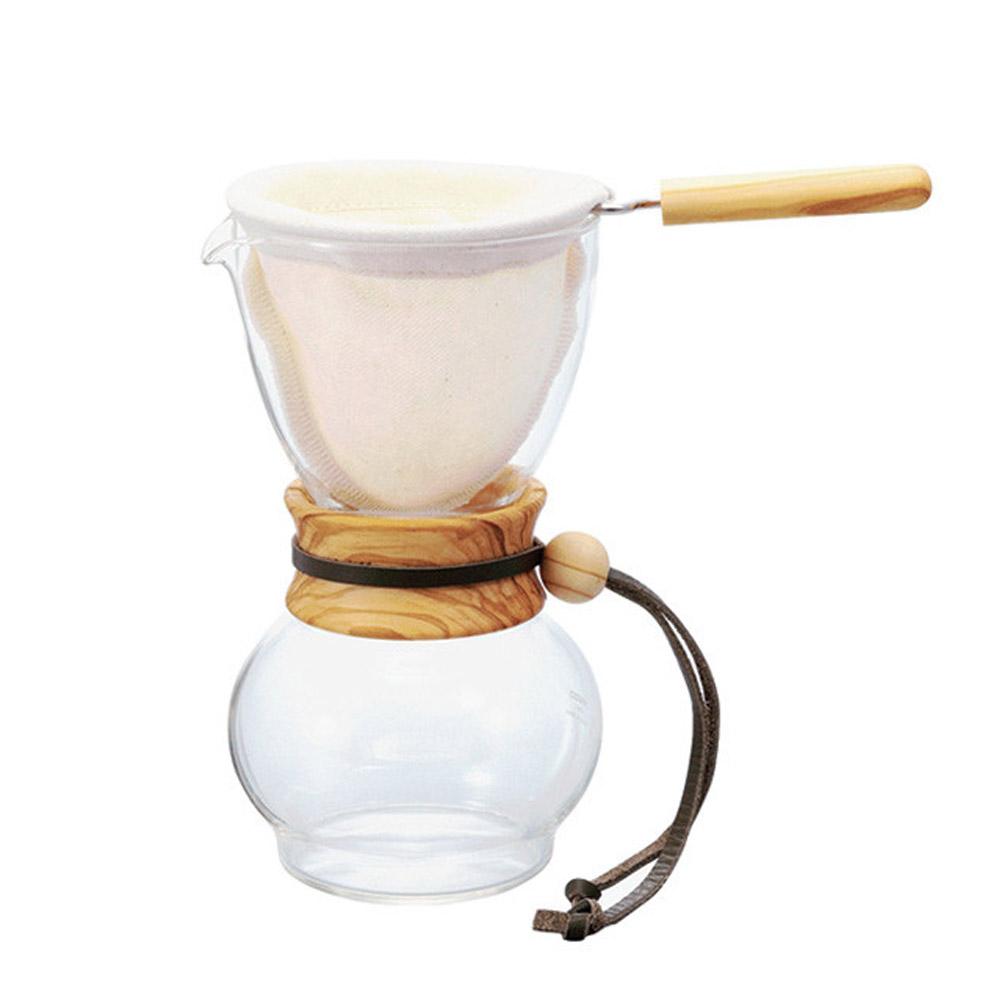 HARIO|濾布橄欖木手沖咖啡壺 3~4杯 / DPW-3-OV