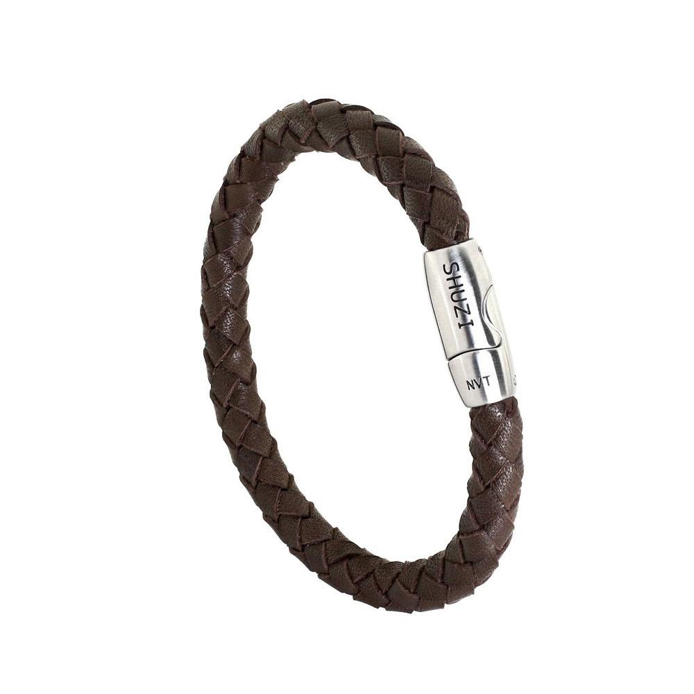 SHUZI™|編織手環 棕 - 美國製造  LB-R02