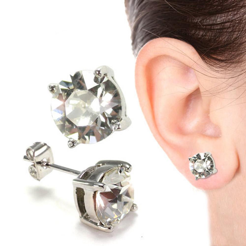 SHUZI™|水晶耳環 (8mm) - 美國製造  ES-W07