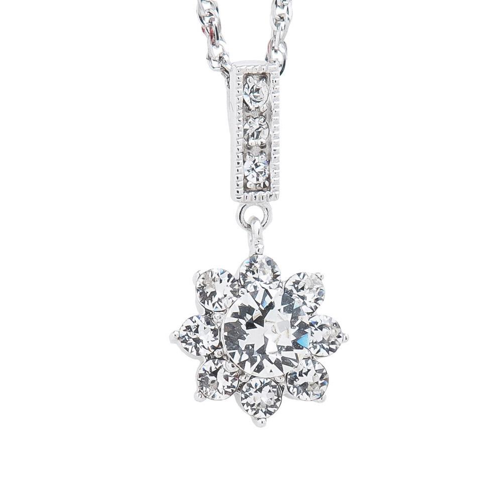SHUZI™ 八葉花水晶純銀墜鍊 - 美國製造  PS-W03