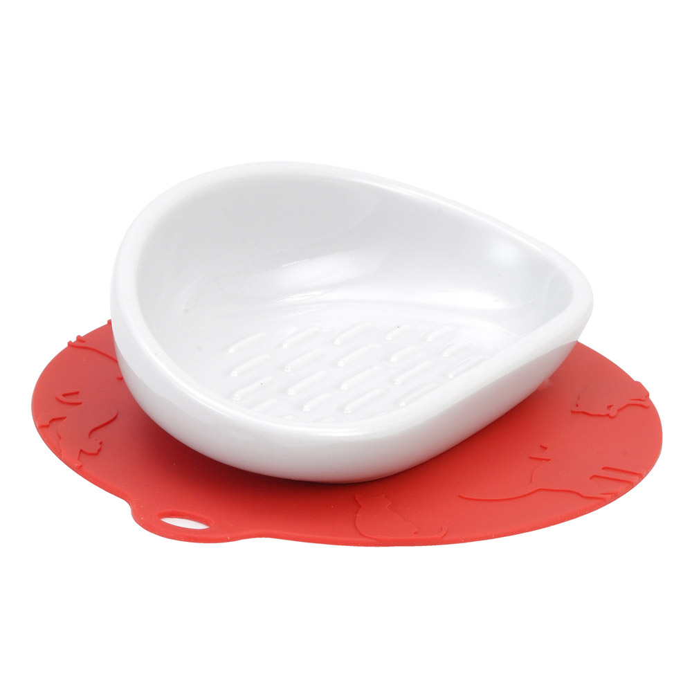 HARIO|長毛貓專用紅色陶瓷大碗  PTS-NYL-R