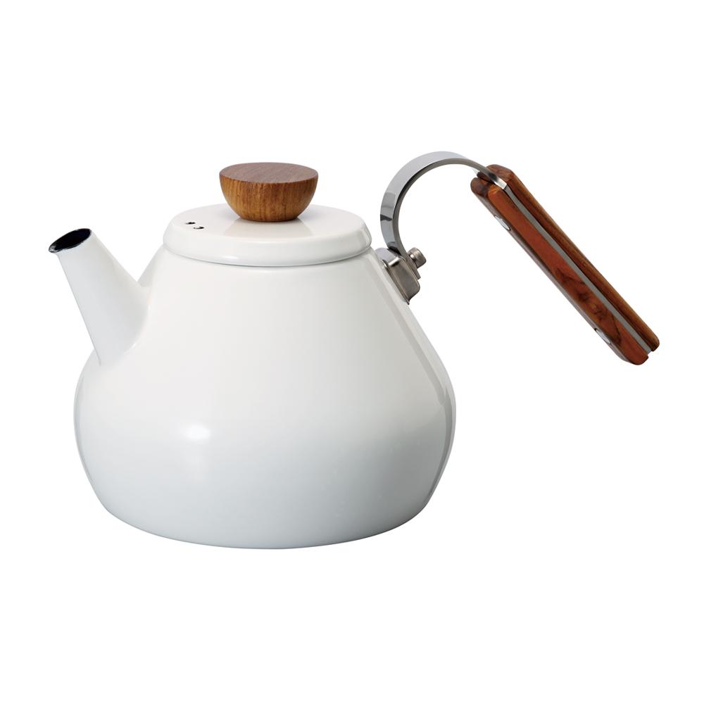 HARIO|Bona琺瑯茶壺 BTK-80-W