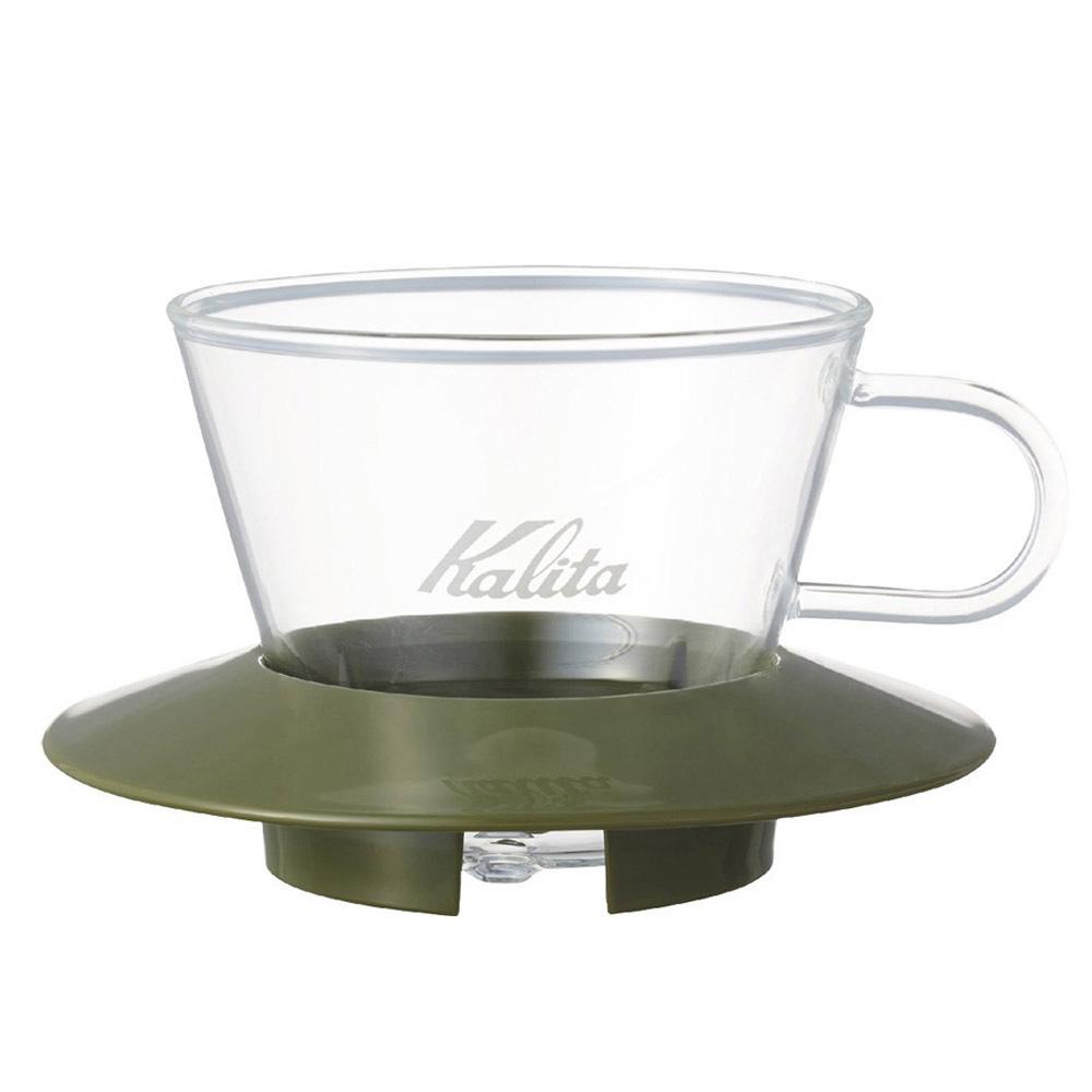 KALITA|155系列蛋糕型玻璃濾杯(迷彩綠) #05064