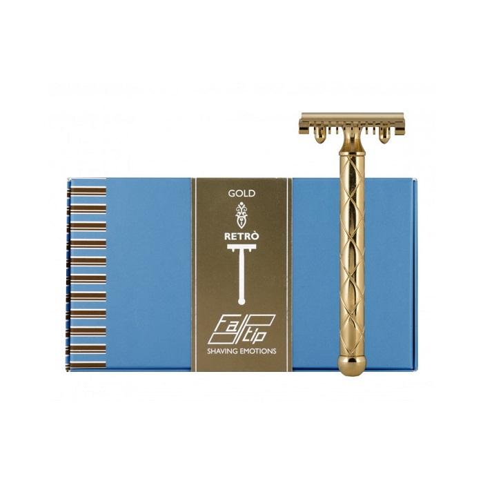 義大利 FATIP 42119 復古安全刮鬍刀 金 開放刀頭