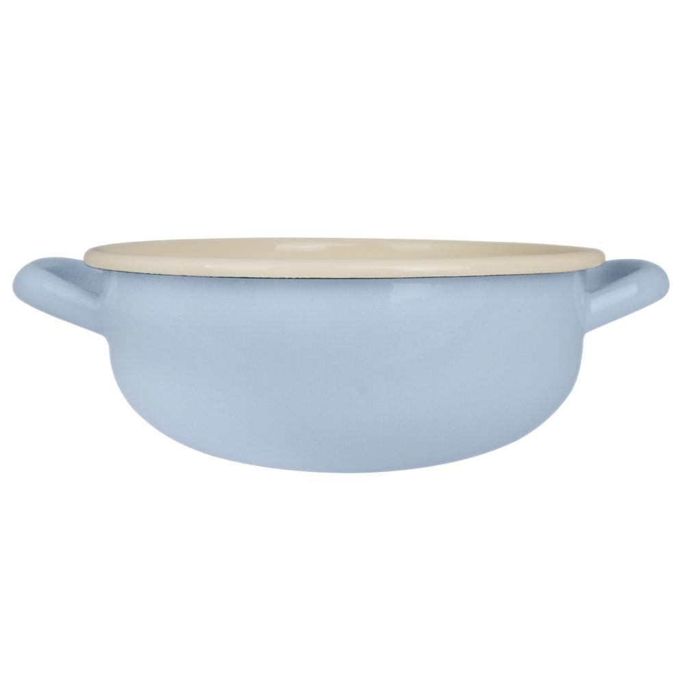 奧地利 RIESS|琺瑯雙耳小鍋 1.5L 淺藍色