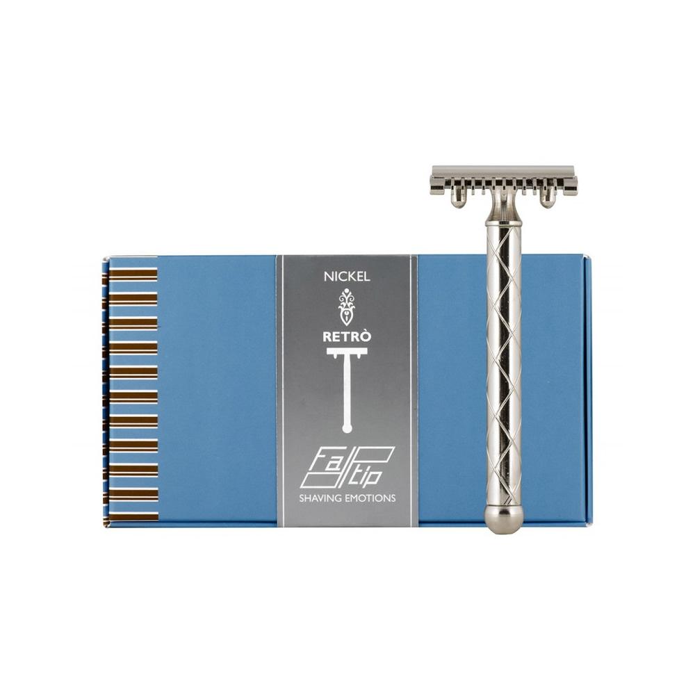 義大利 FATIP   42116 復古安全刮鬍刀 銀 開放刀頭