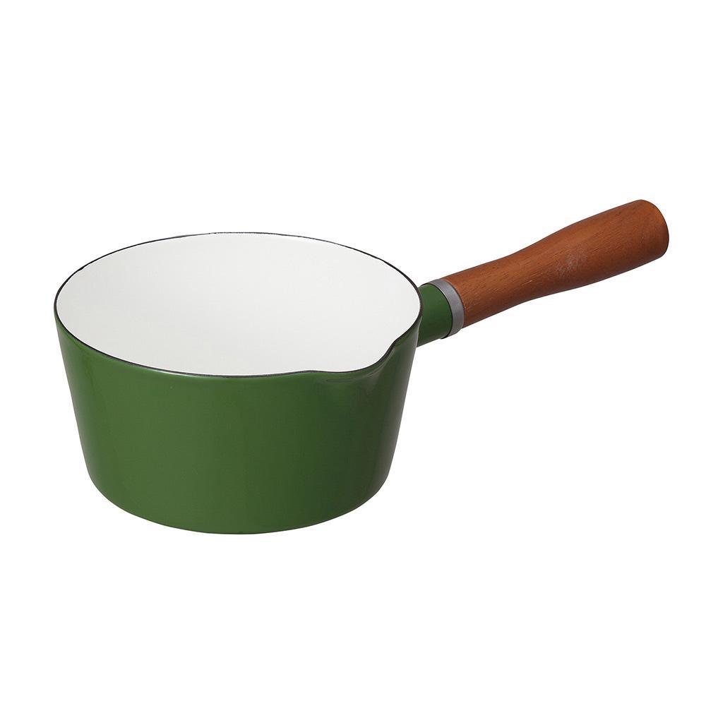CB Japan 北歐系列琺瑯原木單柄牛奶鍋 - 森林綠